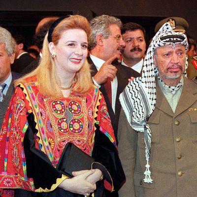 Suha ja Jasser Arafat vuonna 1994.