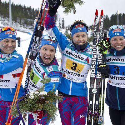 Suomi pronssia, Aino-Kaisa Saarinen, Kerttu Niskanen, Laura Mononen, Krista Pärmäkoski