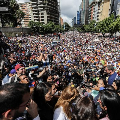 Joukkomielenosoitus Venezuelassa