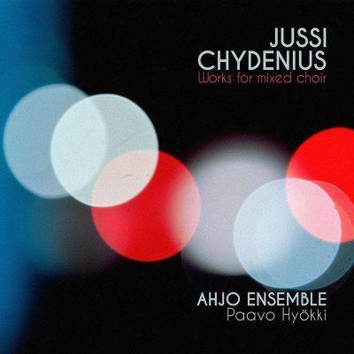 Ahjo Ensemblen levyn kansikuva (Jussi Chydeniuksen musiikkia).