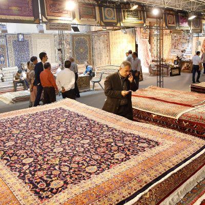 Kansainvälinen mattonäyttely Teheranissa elokuussa 2019.