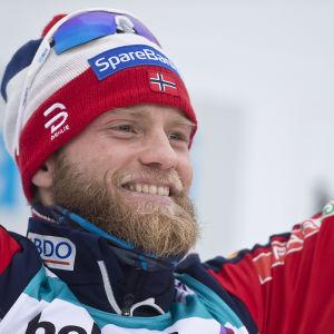 Martin Johnsrud Sundby var med om att vinna VM-guld i stafetten.