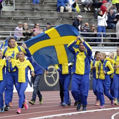 Staitsiken talar för Sverige i Tammerfors.