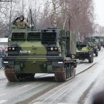 Försvarsmaktens pansarfordon.