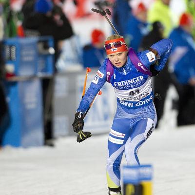 Mari Laukkanen, skidskytte-VM 2015.