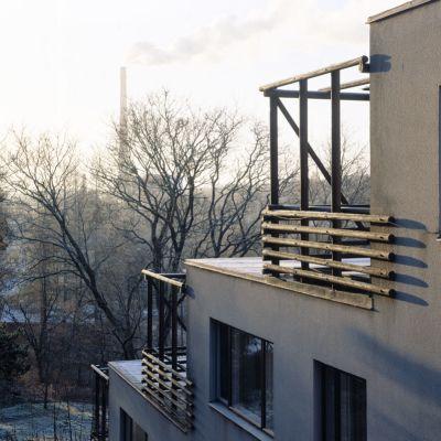 Alvar Aallon suunnittelema Euran terassitalo