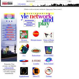 Tallenne yle.fi -sivusta vuodelta 1996.