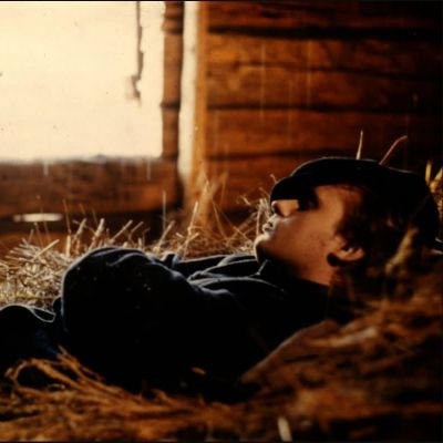 Jyrki Kovaleff Edvin Laineen Päätalo-filmatisoinnissa Viimeinen savotta (1977).