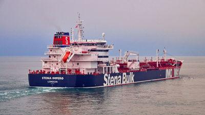 Bild på tankern Stena Bulk som beslagtogs i Hormuzsundet.