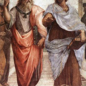 Yksityiskohta Raphaelin teoksesta Ateenan koulu (1509)