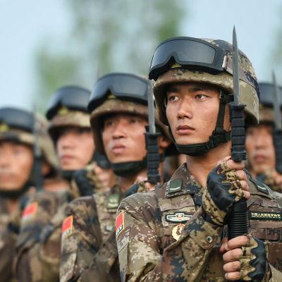Soldater marscherar.