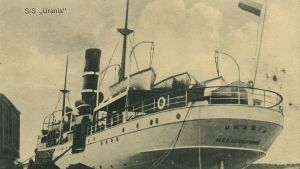 Fartyget S/S Urania i hamn