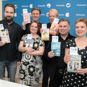 Sex verk är nominerade till Finlandiapriset för årets bästa finländska roman 2016.