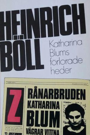 Pärm till Heinrich Bölls bok Katharina Blums förlorade heder