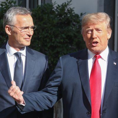 Stoltenberg ja Trump.