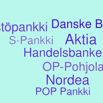 Pankkien nimiä, grafiikka.