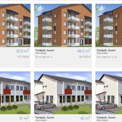 Habitan myytäviä asuntoja Pyhäjoella