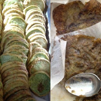 Vasemmalla tavalliset ja oikealla erikoisruokavalion mukaan valmistetut pinaattiletut.