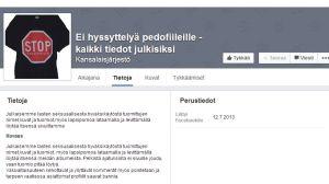 Facebooksida som offentliggör dömda sexualförbrytare