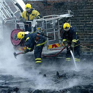 Brittiska brandman staller in strejk