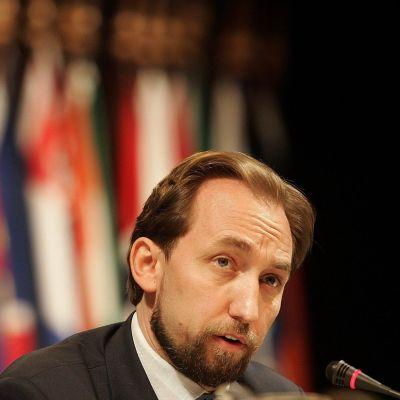 YK:n ihmisoikeuskomissaari Zeid Ra'ad al-Hussein.