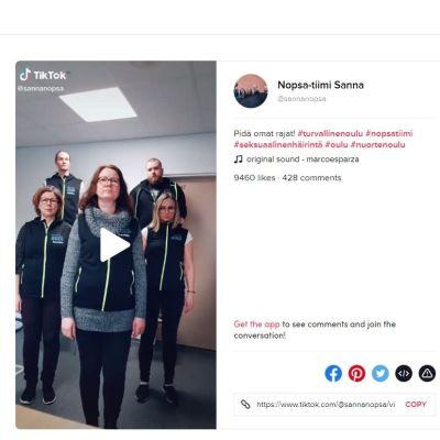 Turvallinen Oulu -hankkeen Tiktokiin julkaisema video on saanut maailmanlaajuista huomiota viime päivien aikana.