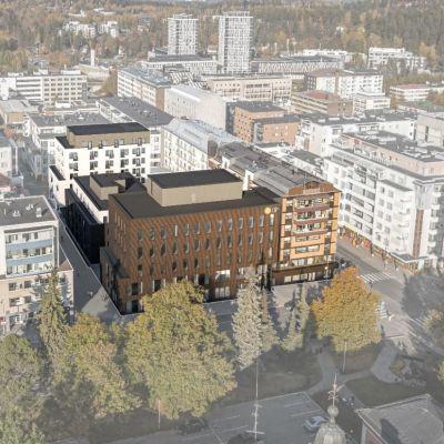 OP Pohjois-Savon uusi toimitalo, havainnekuva