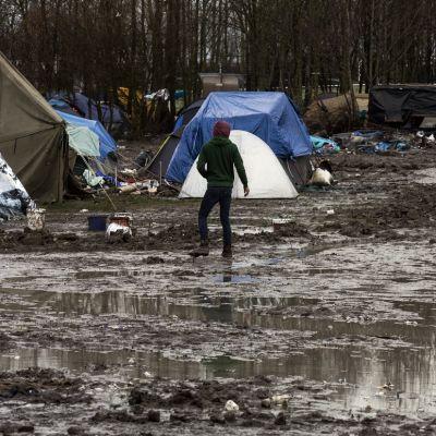 Mutaa ja liejua. Grande-Synthen vanha pakolaisleiri.