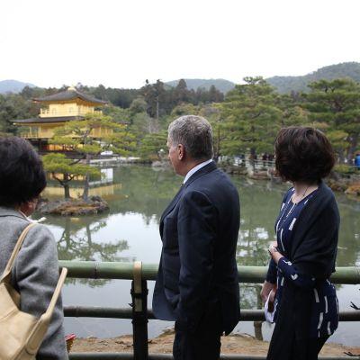 Kultaisen paviljongin temppeli Kiotossa.