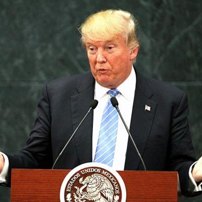Republikaanien presidenttiehdokas Donald Trump Meksikossa.