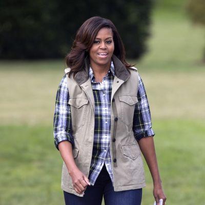 Michelle Obama osallistui Valkoisen talon sadonkorjuutapahtumaan. Lokakuu 2016