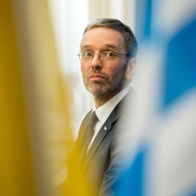 Itävallan sisäministeri Herbert Kickl Münchenissä 15.02.2018.