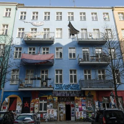 Vallattu talo Berliinissä helmikuussa 2017.