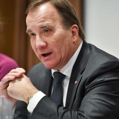 Ruotsin vt. pääministeri Stefan Löfven marraskuussa 2018.
