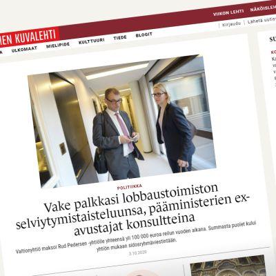 Suomen Kuvalehden juttu nettisivulla