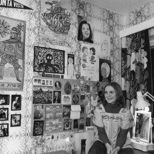 Harmonikkataitelija Merja Ikkelä vuonna -74