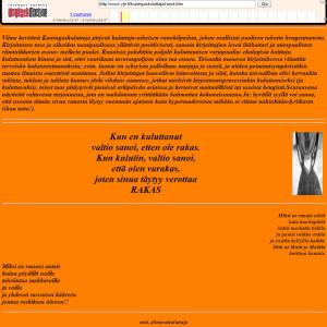 Tallenne Kuningaskuluttajan www-sivuilta vuodelta 1997.