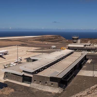 Flygplatsen på ön Saint Helena.