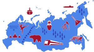Piirroskartta Venäjästä