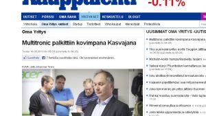 Webbsidan Kauppalehti.fi