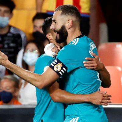 Karim Benzema firar mål i Real Madrid.