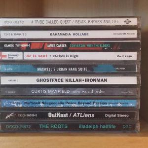 cd-skivor i en hylla