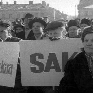 Lakkolaisia vuonna 1956 yleislakon aikana.