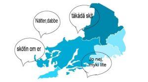 Karta med västnyländska citat.