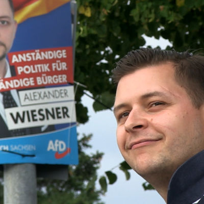 AfD-kandidat Alexander Wiesner i Leipzig