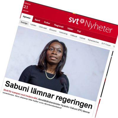 Sveriges jämställdhetsminister avgår