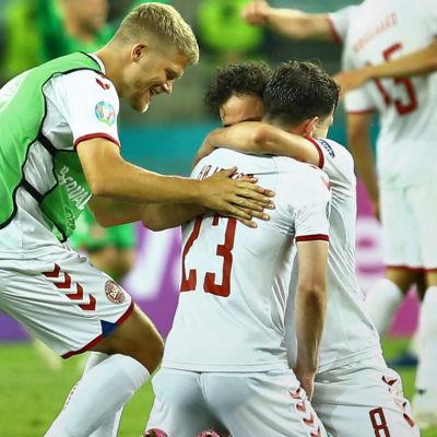 Danmark firar efter seger i EM.