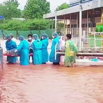 Rankkasateet ja tulvat vaikeuttavat Myanmarin jo ennestään vaikeaa koronatilannetta