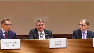 Alexander Stubb. Timo Soini ja Juha Sipilä