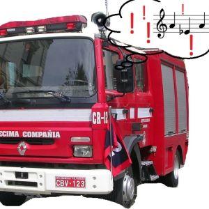 Ylinouseva kvartti ja paloauton sireeniääni. Vain Orkesterikoneessa käytettäväksi